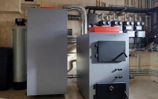 Отопительный комбинированный котел на электричестве и твердом топливе