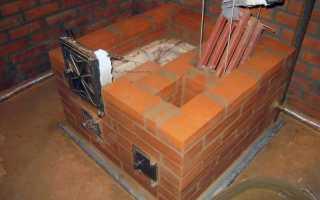 Как собрать и установить кирпичную печь в частном доме с котлом водяного отопления