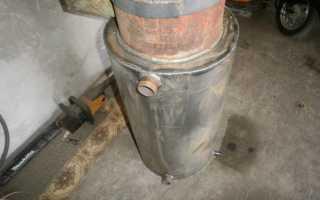 Принцип работы пиролизного котла из газового баллона